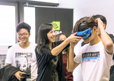 17 Students exploring goggles from Nvidia